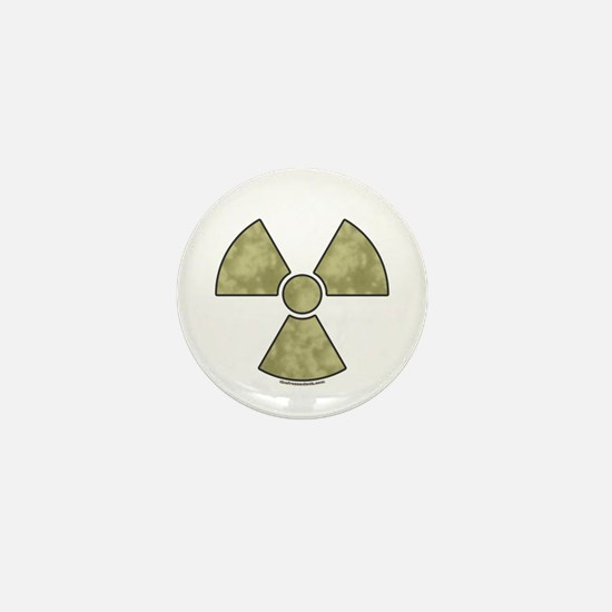 Radioactive Warning Mini Button