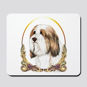 Brown Beardie Bearded Collie Gold Ring Mousepad
