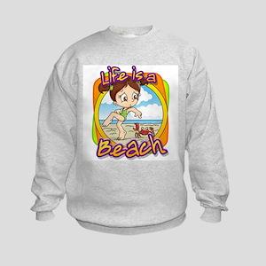 Charlotte's Crabby Day Kids Sweatshirt