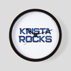 krista rocks Wall Clock
