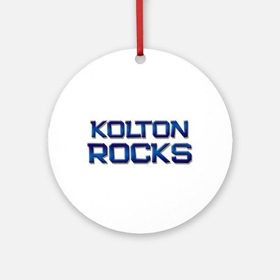 kolton rocks Ornament (Round)