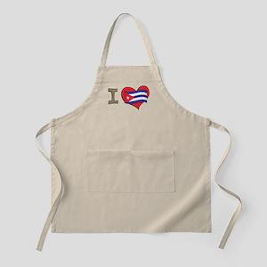 I heart Cuba BBQ Apron