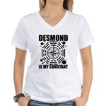 Desmond Is My Constant Women's V-Neck T-Shirt