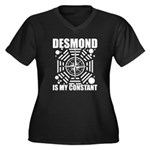 Desmond Is My Constant Women's Plus Size V-Neck Da