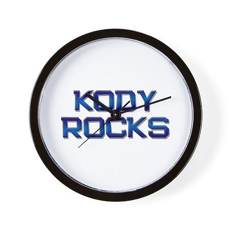 kody rocks Wall Clock