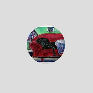 Black Labrador sofa Mini Button
