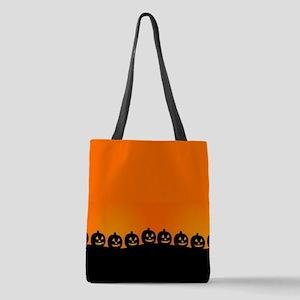 Spooky Halloween Pumpkins Polyester Tote Bag
