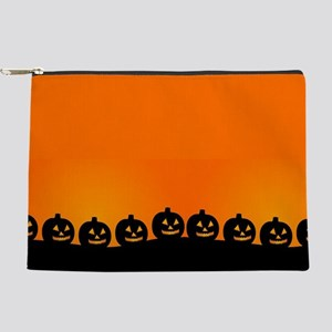 Spooky Halloween Pumpkins Makeup Bag