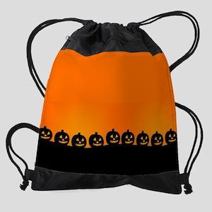 Spooky Halloween Pumpkins Drawstring Bag