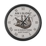 Sloth am I slow? Large Wall Clock