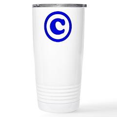 Copyright Symbol Stainless Steel Travel Mug