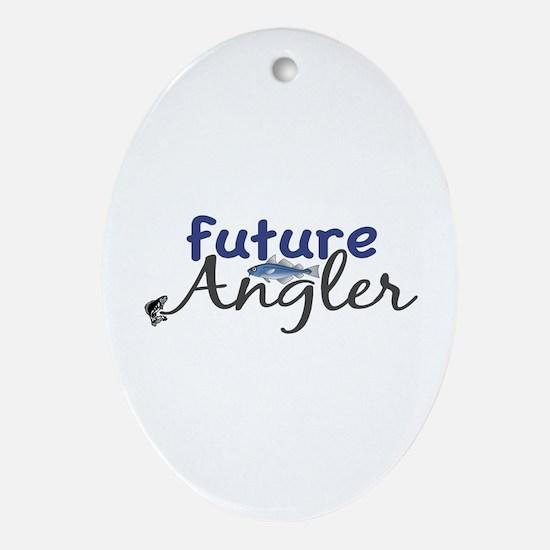 Future Angler Oval Ornament
