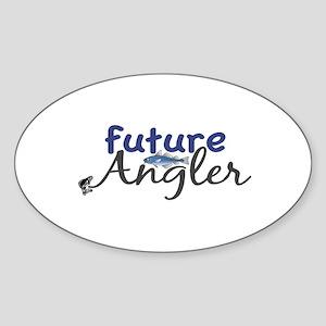 Future Angler Oval Sticker