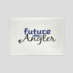 Future Angler Rectangle Magnet