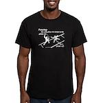 Piste On Men's Fitted T-Shirt (dark)