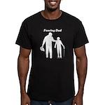 Fencing Dad Men's Fitted T-Shirt (dark)
