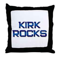 kirk rocks Throw Pillow