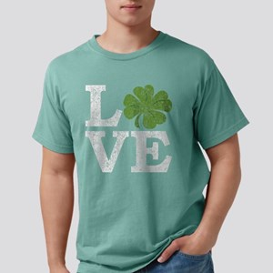 LOVE with a shamrock Women's Dark T-Shirt