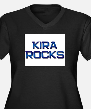 kira rocks Women's Plus Size V-Neck Dark T-Shirt