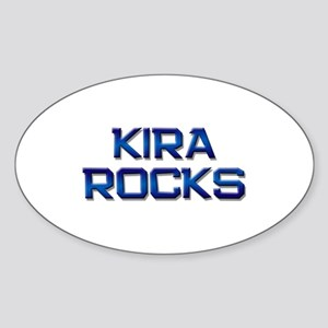 kira rocks Oval Sticker