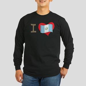 I heart Guatemala Long Sleeve Dark T-Shirt