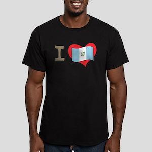 I heart Guatemala Men's Fitted T-Shirt (dark)
