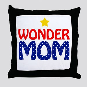 Wonder Mom Throw Pillow