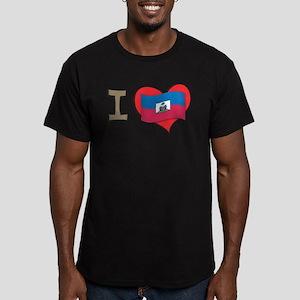 I heart Haiti Men's Fitted T-Shirt (dark)