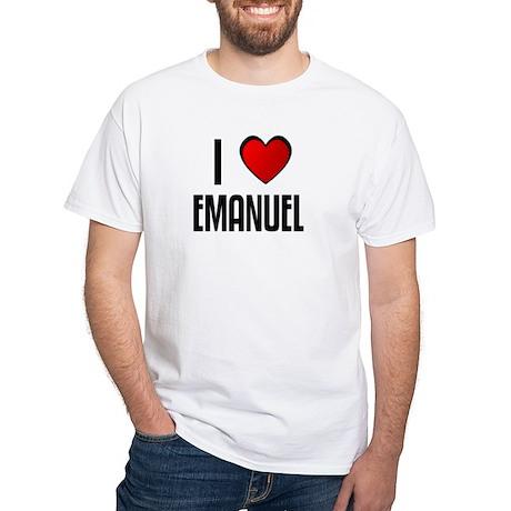 I LOVE EMANUEL White T-Shirt