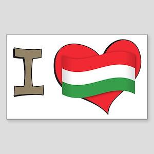 I heart Hungary Rectangle Sticker