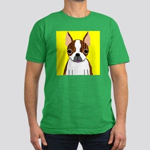 Boston Terrier (Brindle) Men's Fitted T-Shirt (dar