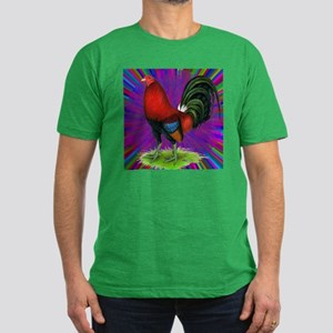 Colorful Gamecock Men's Fitted T-Shirt (dark)