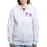 Glitter Stars Women's Zip Hoodie