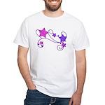 Glitter Stars White T-Shirt