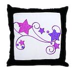 Glitter Stars Throw Pillow