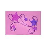 Glitter Stars Rectangle Magnet (10 pack)