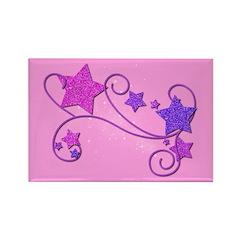 Glitter Stars Rectangle Magnet