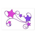 Glitter Stars Postcards (Package of 8)