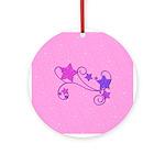Glitter Stars Ornament (Round)