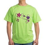 Glitter Stars Green T-Shirt