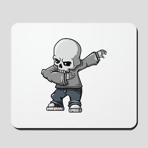 dabbing skull Mousepad