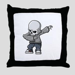 dabbing skull Throw Pillow