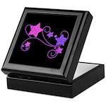 Glitter Stars on Black Keepsake Box