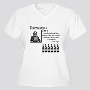 For the Bibliophile Women's Plus Size V-Neck T-Shi