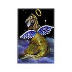 Golden Retriever Angel Rectangle Magnet