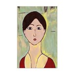 Girl's Face After Matisse Mini Poster Print