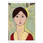 Girl's Face After Matisse Large Poster
