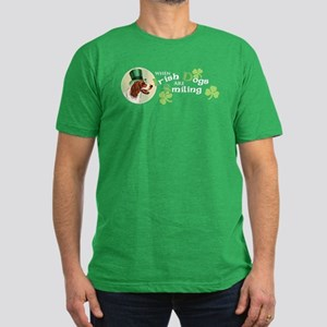 St. Patrick Irish Red and Whi Men's Fitted T-Shirt