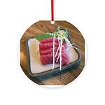 Sushi - Holiday Ornament Round