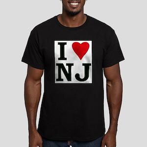 I LOVE NJ (Red Heart) Men's Fitted T-Shirt (dark)